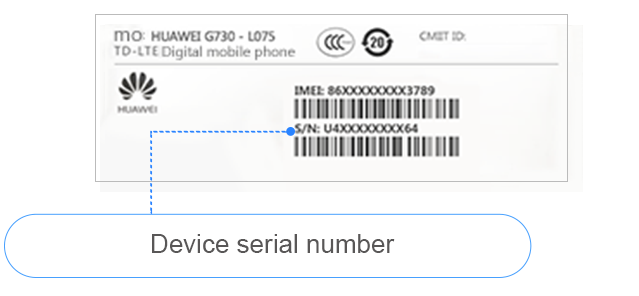 How do I check IMEI/MEID, SN, or MAC codes?
