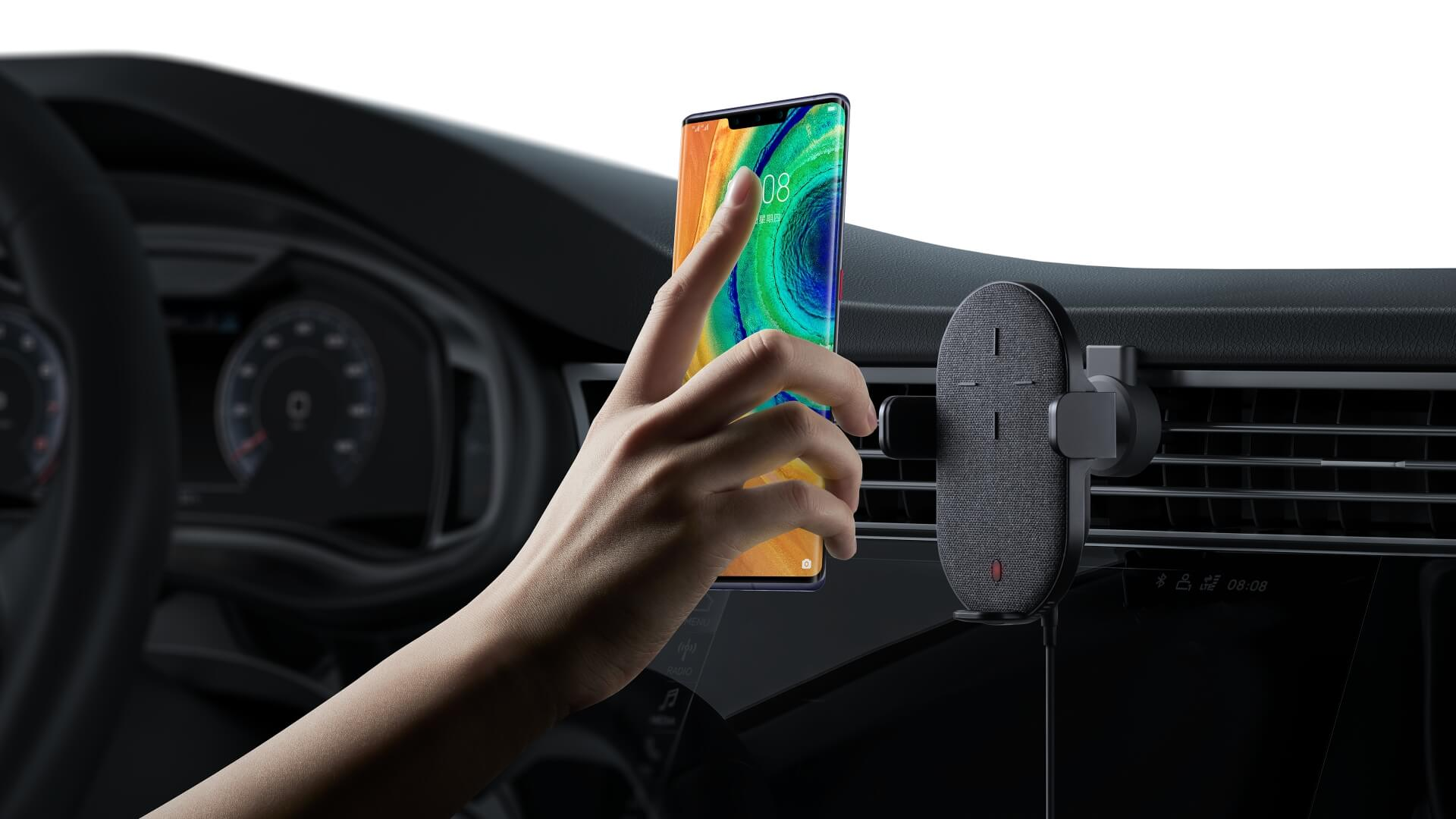HUAWEI Mate 30E Pro 5G HUAWEI SuperCharge Wireless Car Charger