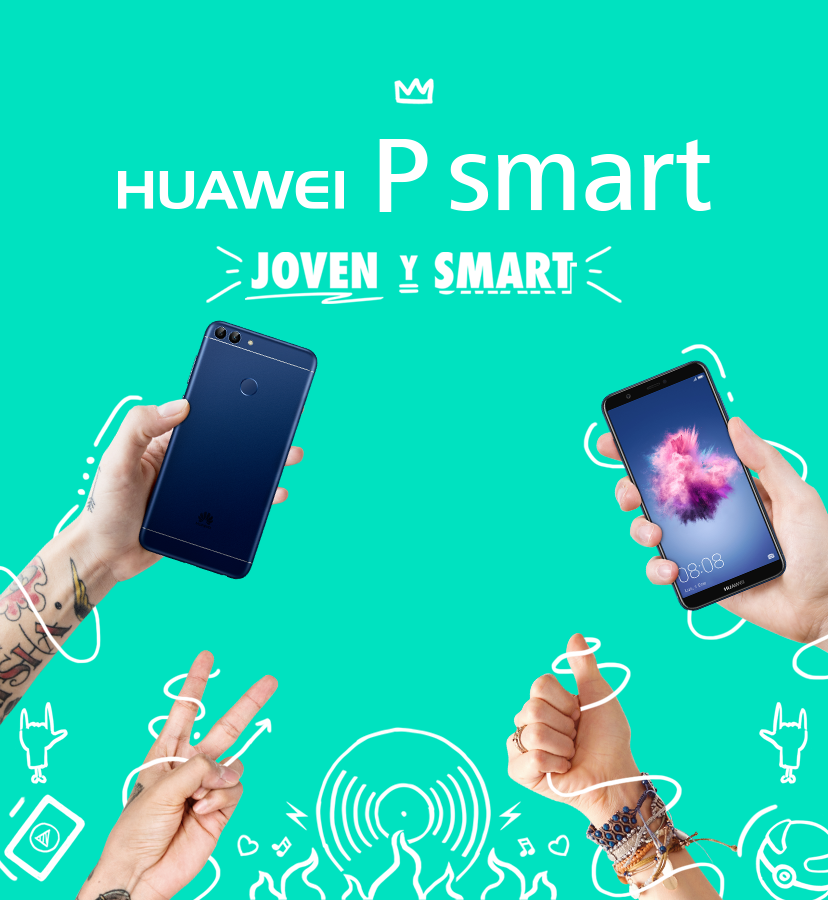 huawei p smart multi coloured background