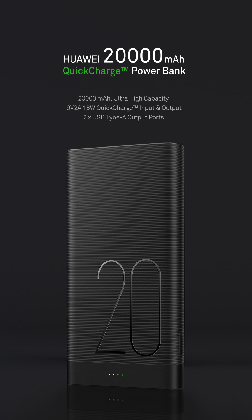 HUAWEI 20000mAh QuickCharge™ Power Bank