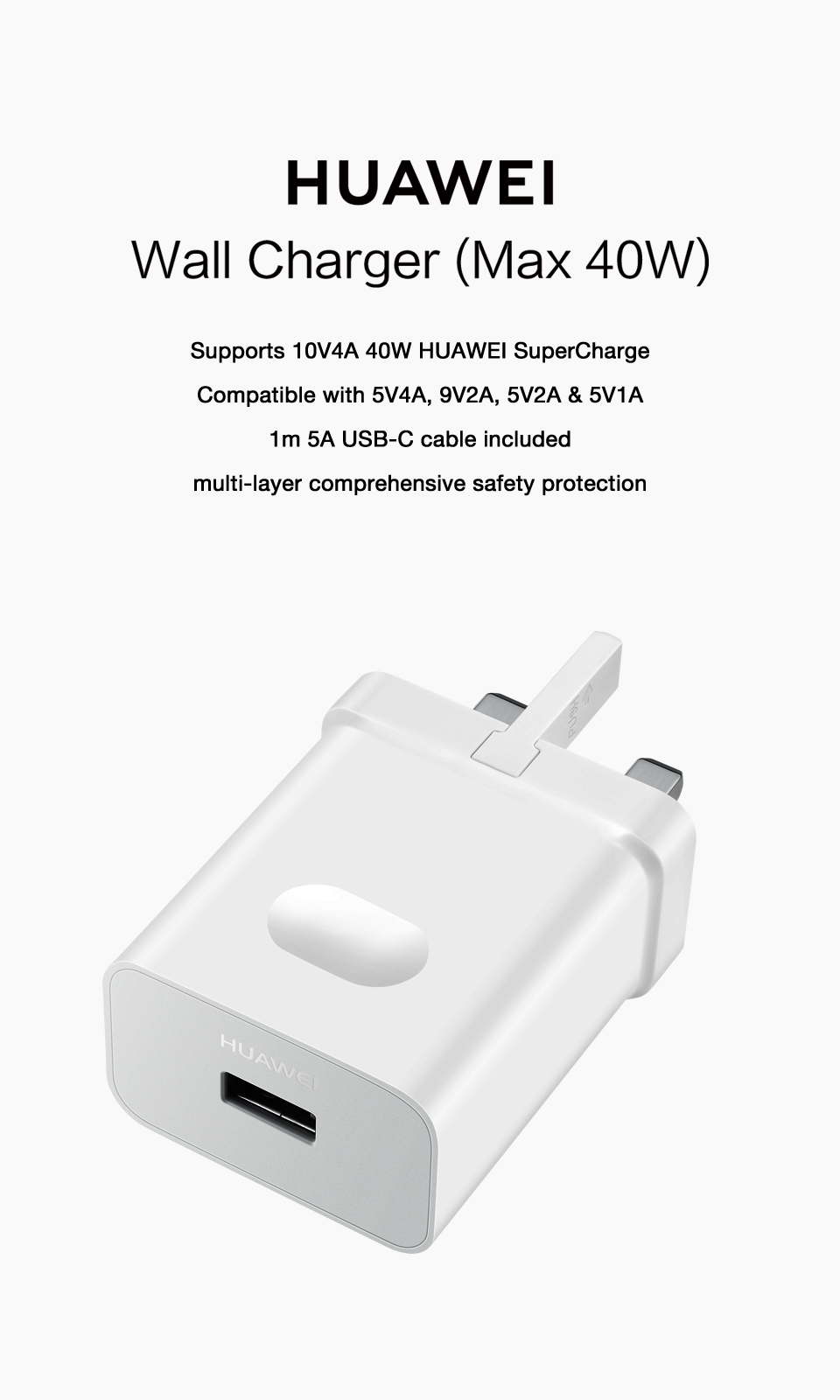 HUAWEI SuperCharge Wall Charger (Max 40W)