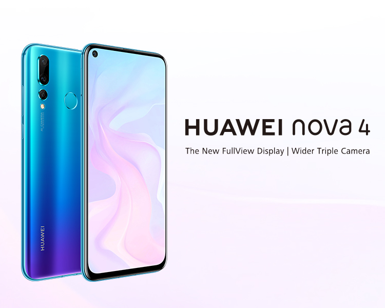 HUAWEI nova 4, The New FullView Display, 20 MP triple camera