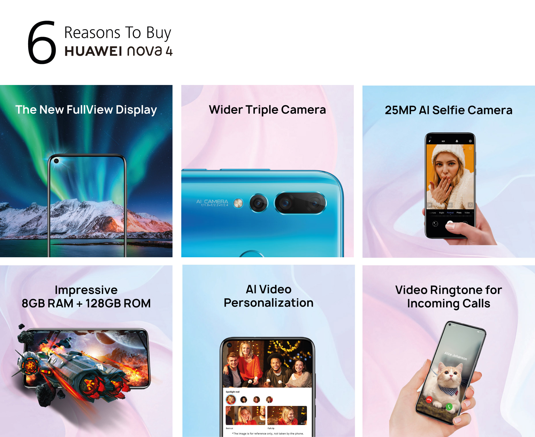 HUAWEI nova 4, The New FullView Display, 20 MP triple camera| HUAWEI UAE