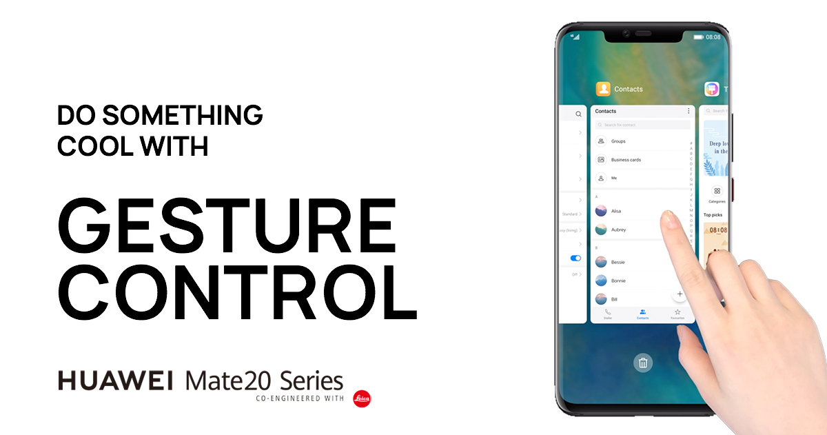 How to navigate with Gesture Control | HUAWEI Mate 20 Series