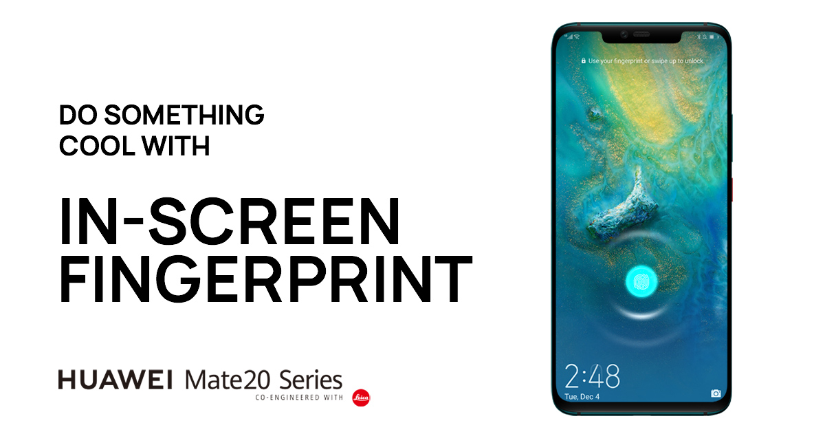 How to unlock your phone with In-screen Fingerprint | HUAWEI Mate 20 Pro