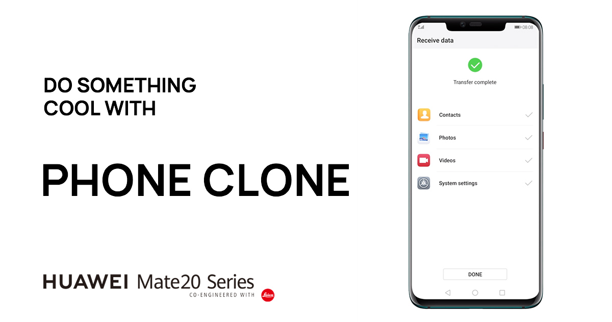 How to transfer your data from your old phone with Phone Clone | HUAWEI Mate 20 Series