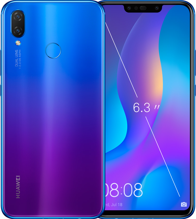 HUAWEI nova 3i blue gradient finish