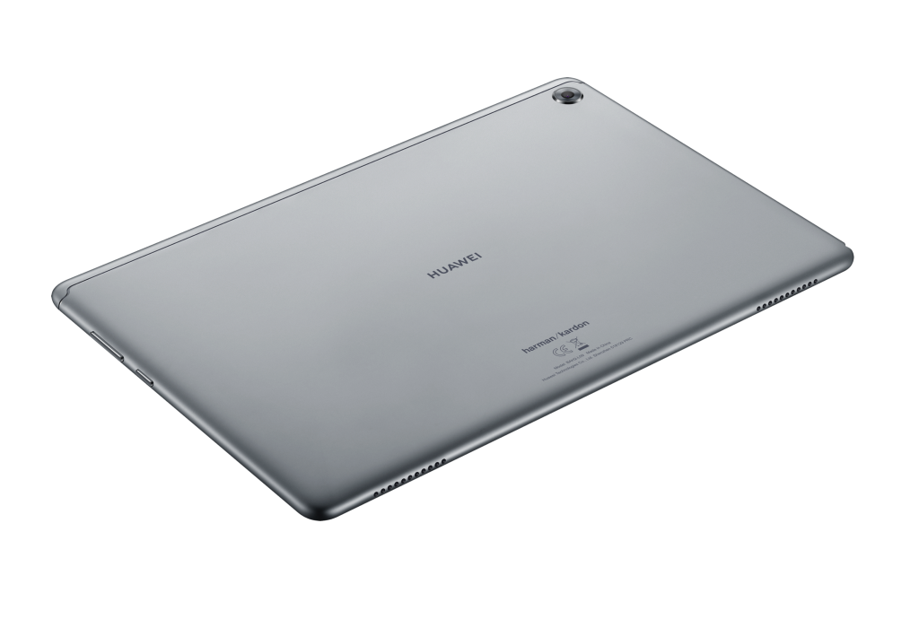 Huawei mediapad m5 lite display with sound waves