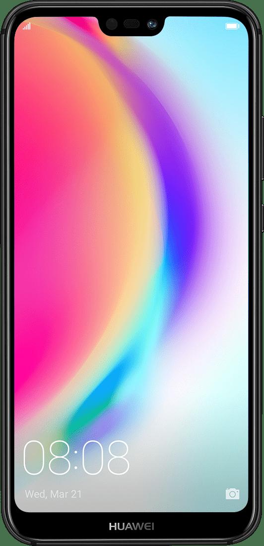 هاتف هواوي P20 lite من الأمام مع شاشة بألوان رائعة