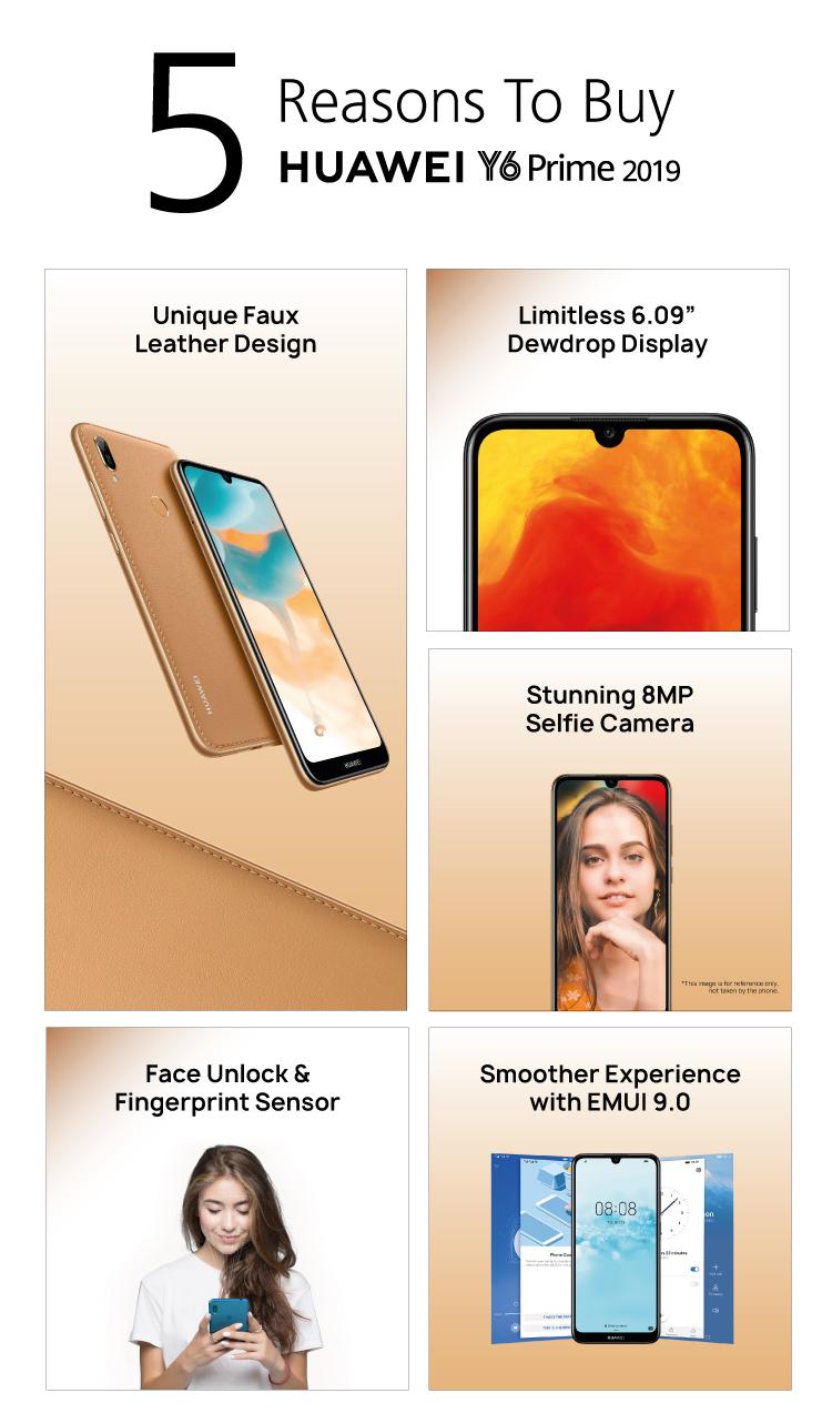 HUAWEI Y6 Prime 2019, Dewdrop HD Display, Unique Colour