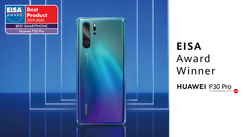 """HUAWEI WINS EISA'S """"BEST SMARTPHONE OF THE YEAR"""" AWARD FOR"""