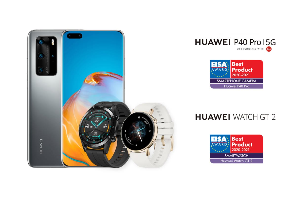 "Huawei Wins Two EISA Awards for ""Best Smartphone Camera"" with the HUAWEI P40 Pro and ""Best Smartwatch"" for HUAWEI WATCH GT 2"