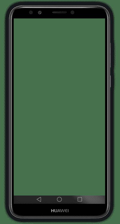هاتف huawei y7 prime 2018 من الأمام باللون الأسود
