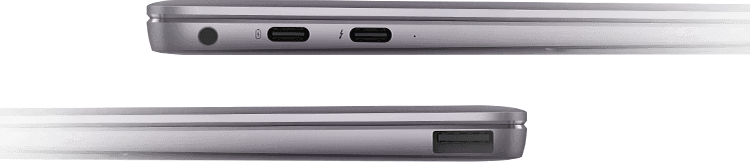 Image showing headset jack and USB ports on the Huawei Matebook X pro