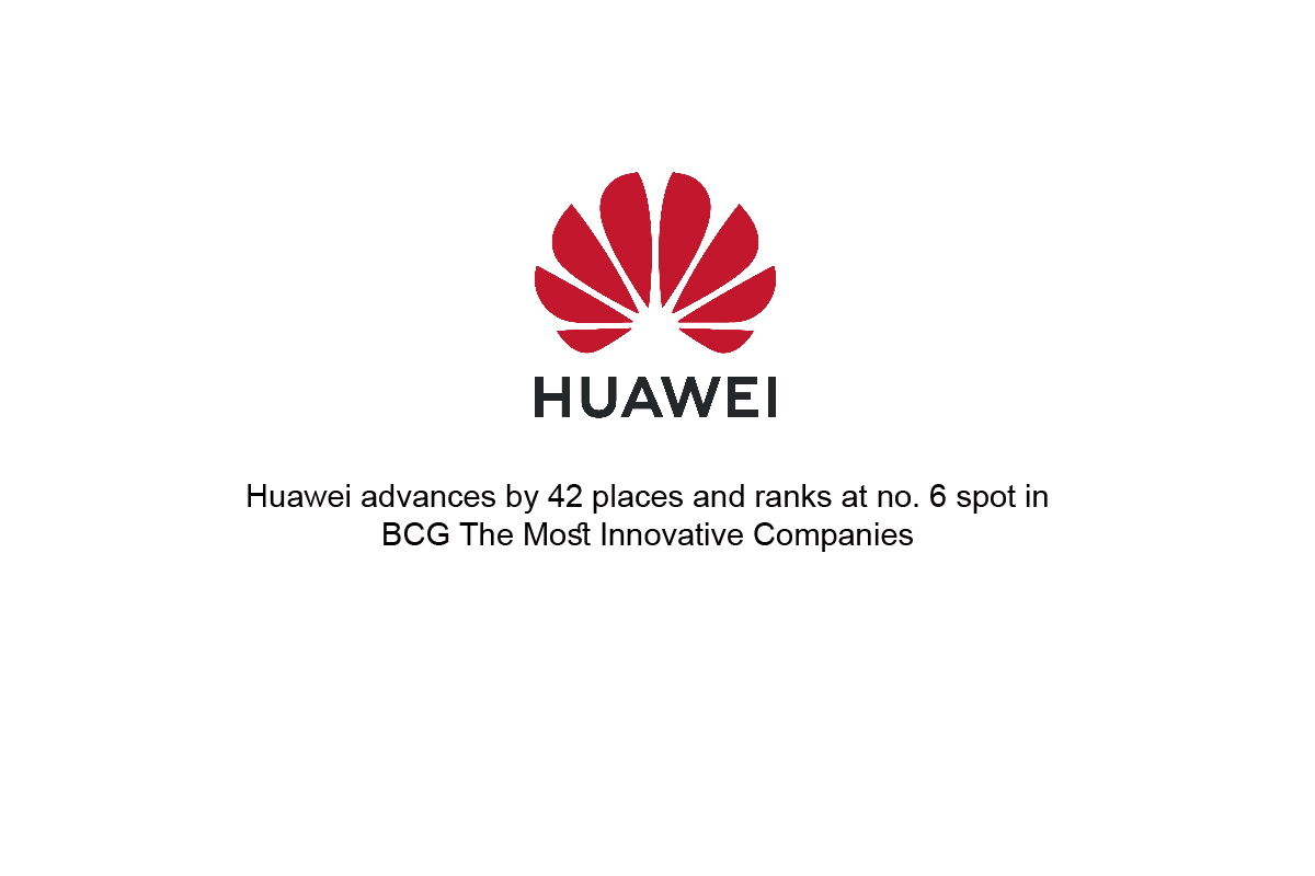 Huawei advances by 42 places and ranks at no. 6 spot in BCG The Most Innovative Companies