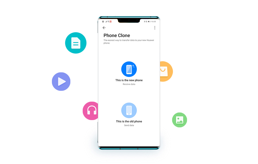 Transfer data with Phone Clone