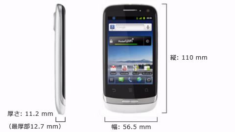 Pocket WiFi SⅡ(S41HW)