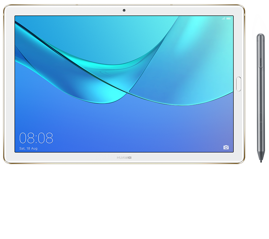 Huawei MediaPad M5 Pro showing audio waves