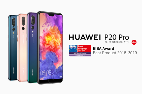 "Huawei wins ""Best Smartphone of the Year"" award from EISA for HUAWEI P20 Pro"
