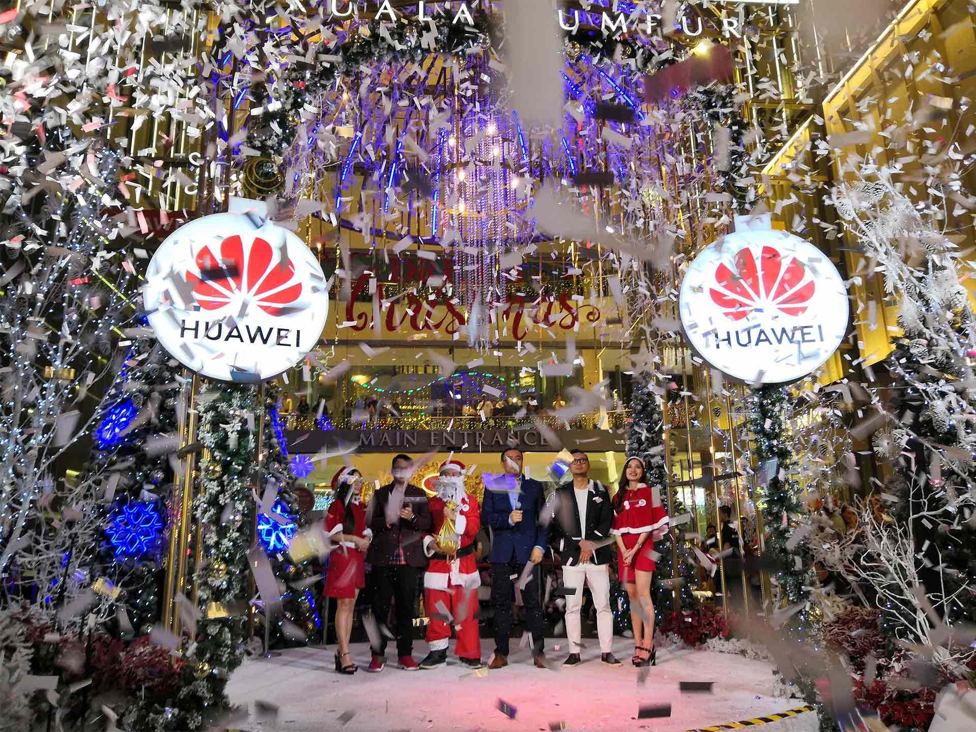 Snowy Christmas.Huawei Snowy Christmas At Pavilion Kl