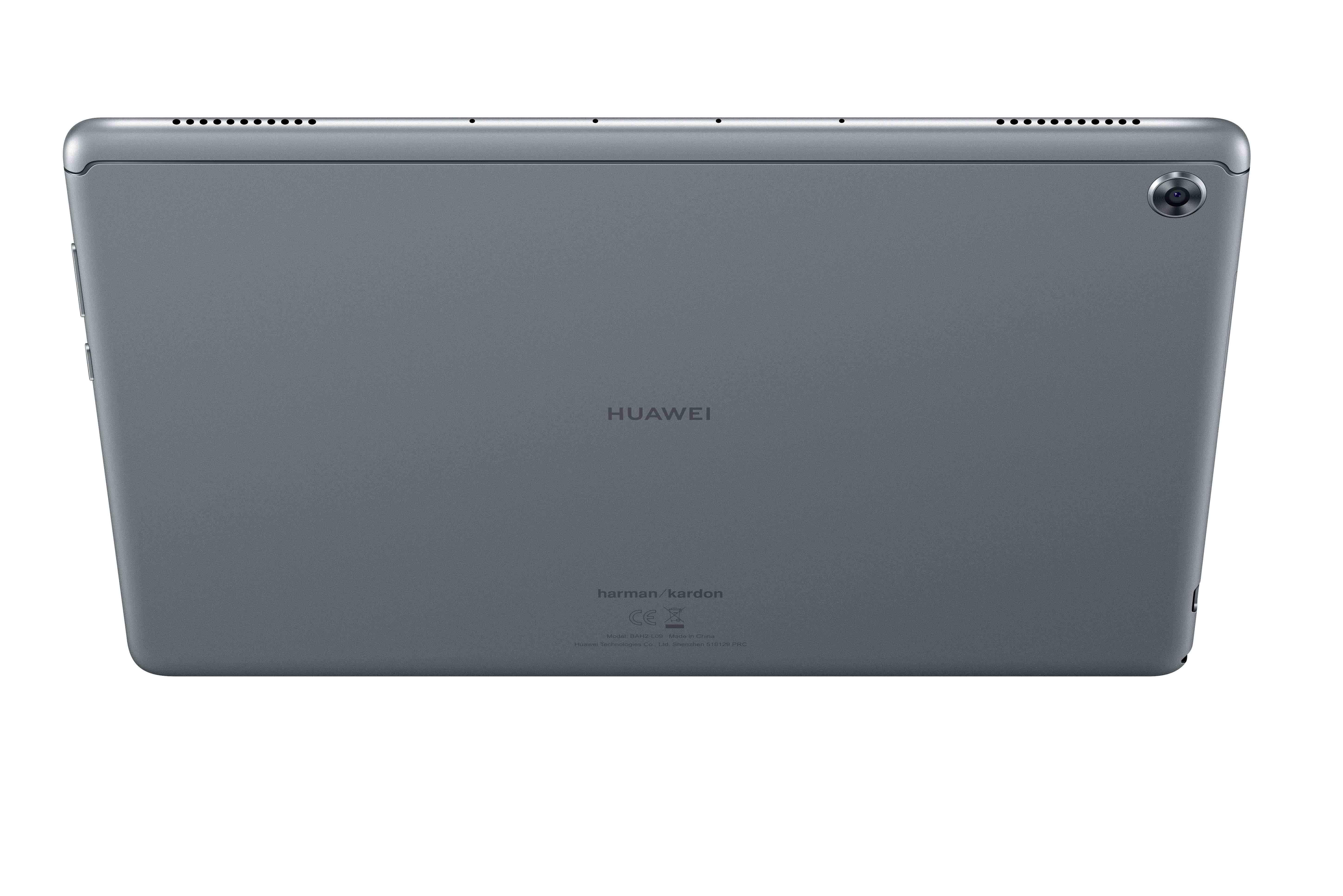 Huawei mediapad m5 lite display showing its back