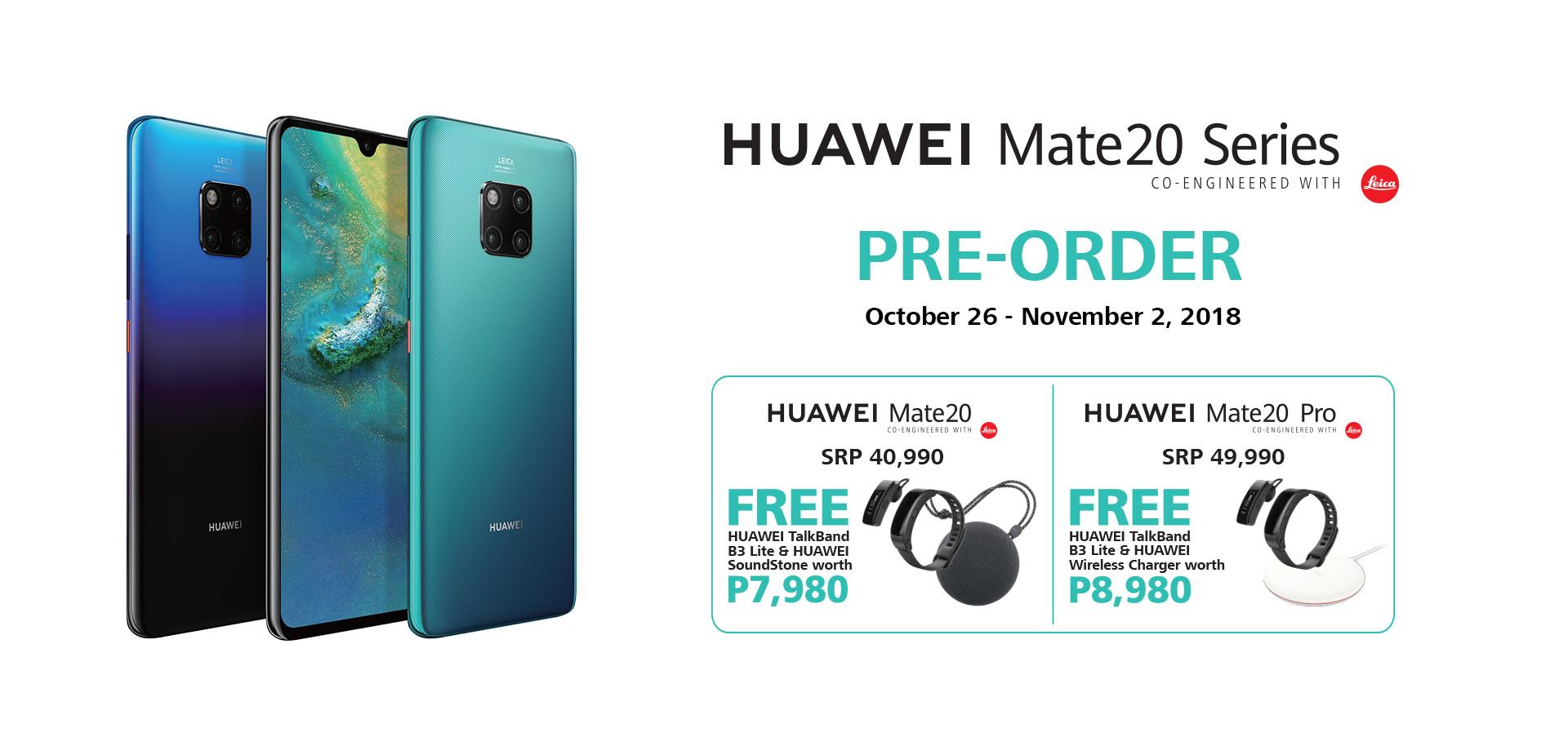 HUAWEI Mate 20 Series Pre-Order Mechanics