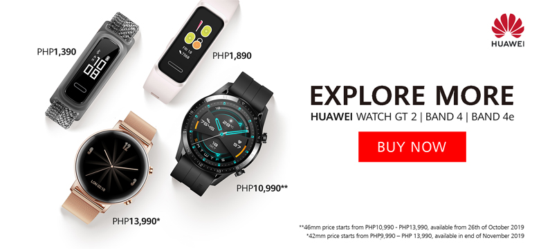 Buy Now! HUAWEI Band 4 and HUAWEI Band 4e in Price PHP1,890 and PHP1,390