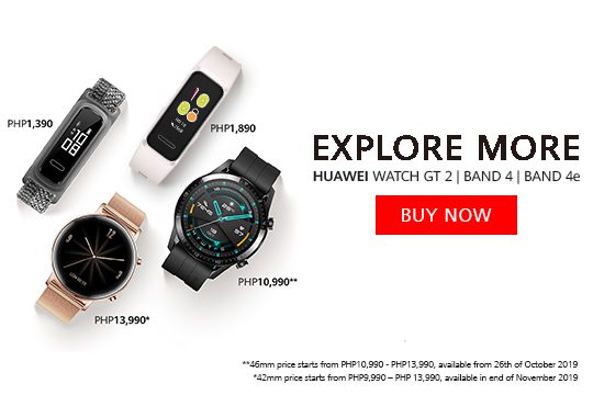 Buy Now! HUAWEI WATCH GT2 (46 mm) in Price PHP10,990 and PHP13,990 Available in Limited Huawei Stores