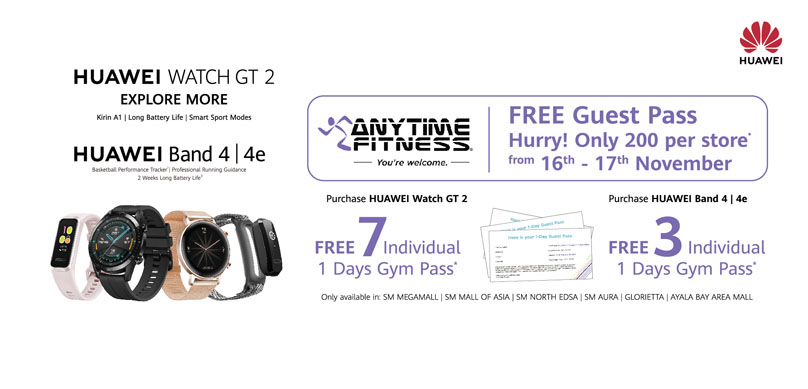 Start Your Fitness Life with Huawei Wearables! Win Free Anytime Fitness Guest Pass