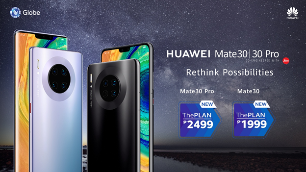 HUAWEI Mate 30 and HUAWEI Mate 30 Pro now available with Globe's ThePLAN.