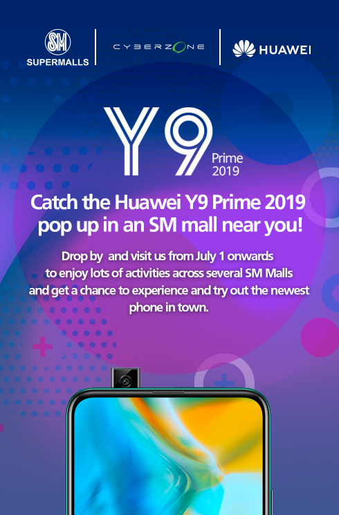 HUAWEI Y9 PRIME 2019 PRE-ORDER AND EXCITING ROADSHOWS!