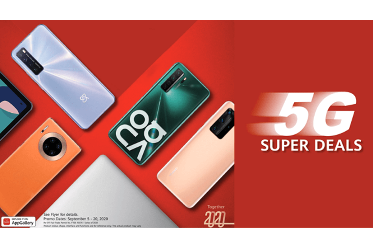 Are you 5G-ready? It's time to own any of Huawei's 5G-capable smartphones now through these SUPER 5G DEALS!
