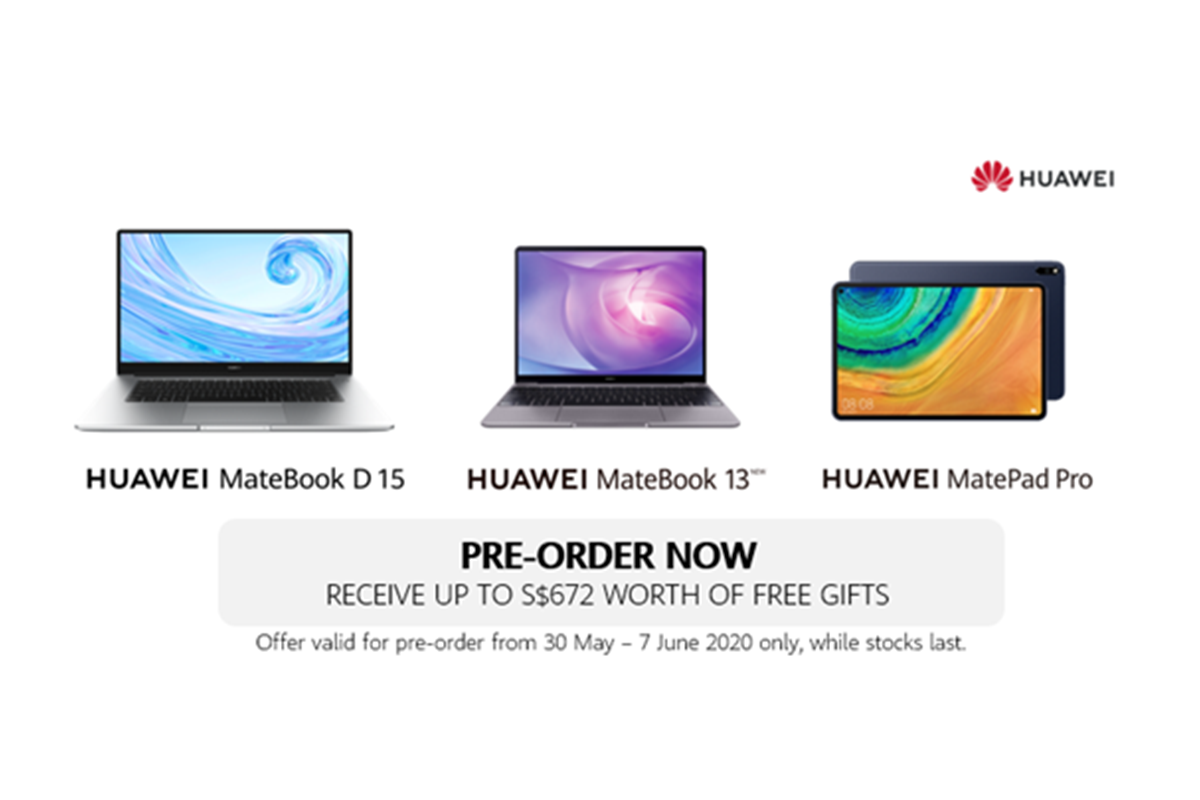 Huawei set to launch its first ever laptop range and flagship tablet in Singapore on 8 June