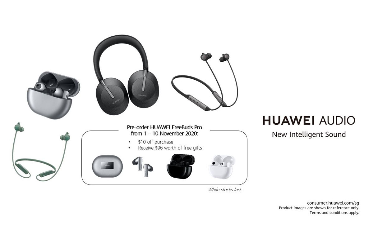 Huawei expands its audio offerings in Singapore with  HUAWEI FreeBuds Pro, HUAWEI FreeLace Pro and HUAWEI Freebuds Studio