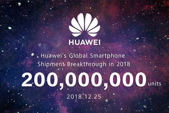 Huawei's Annual Smartphone Shipments Exceed 200 Million Units, a New All-Time High