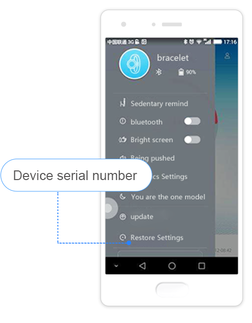 How do I check device serial number?
