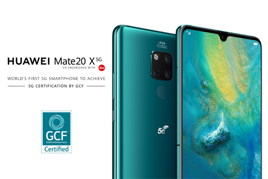 HUAWEI Mate 20 X (5G) is the World's First Mobile Device to Achieve 5G Certification by the Global Certification Forum (GCF)