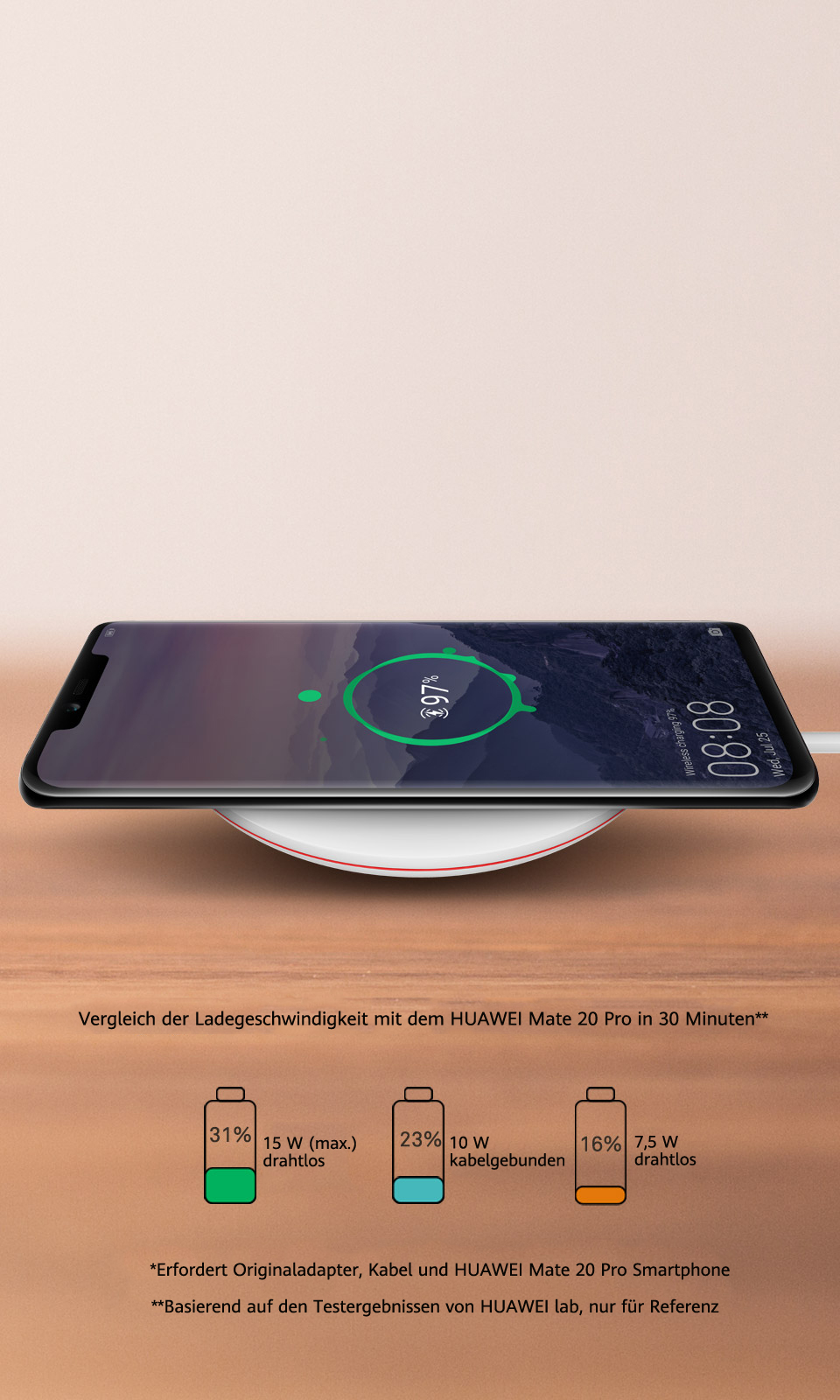 HUAWEI Wireless Charger, Qi Standard, universelles kabelloses ...