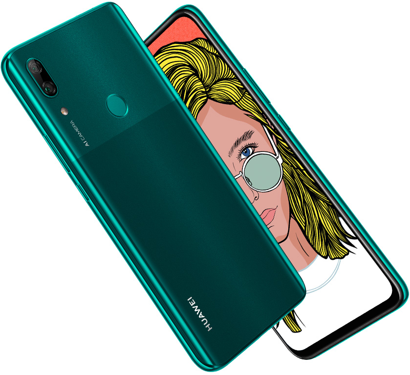 huawei p smart z back design color green