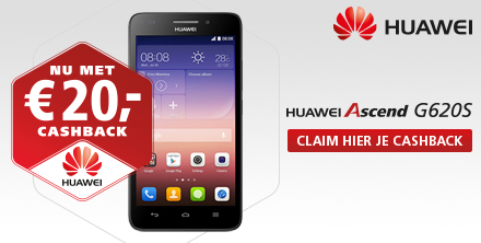 HUAWEI Ascend G620S Euro 20,- Cashback