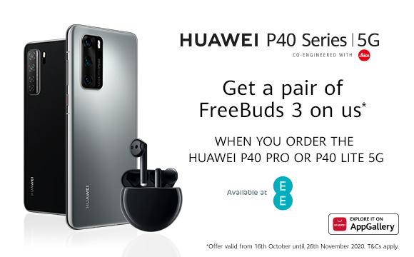 Buy a Huawei P40 Pro 5G or P40 Lite 5G From EE