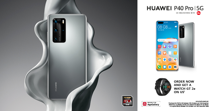 Buy a Huawei P40 Pro & Claim Your Gift