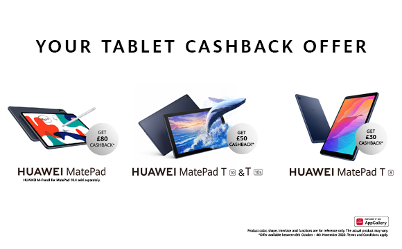 Buy a MatePad T8, T10s, T10, 10.4 & Claim Cashback