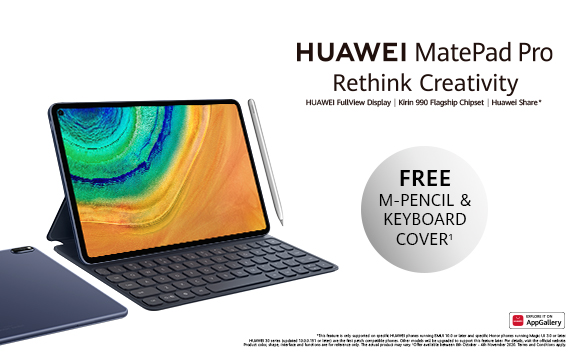 Buy A Huawei MatePad Pro & Claim Gift