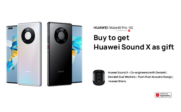 Huawei Mate 40 Pro Pre-Order – Redeem Offer