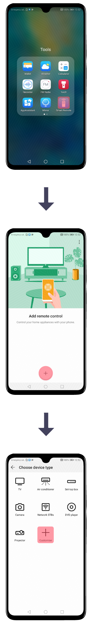 Control your home appliances with the Mate 20 series IR sensor