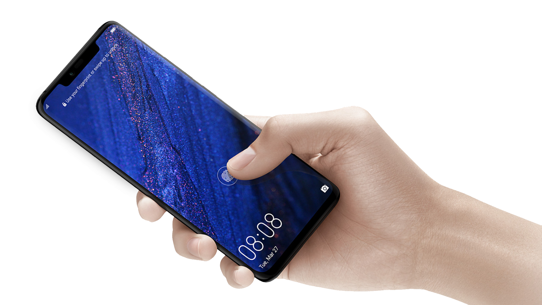 Unlock your Mate 20 Pro with the new in-screen fingerprint sensor